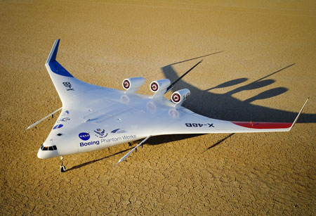 Boeing X-48B demonstrator (photo, Boeing)