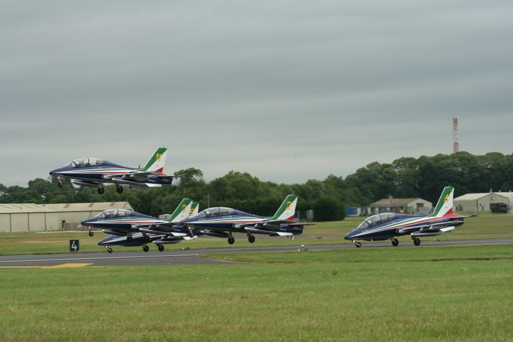 Il Frecce Tricolori Taking-off at RIAT 2016