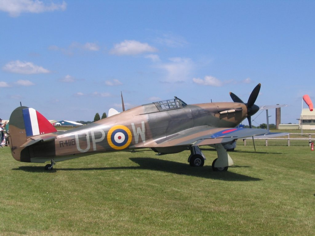 Hurricane R4118 at Cotswold Air Show 2010