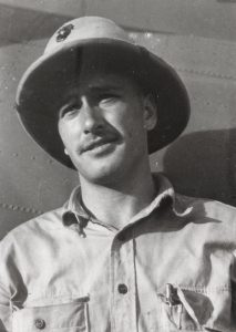 Captain Greg Loesch was a VMF-121 pilot with 8.5 credited victories, including a Zero and one half on October 23, 1942 and two Vals on January 5, 1943