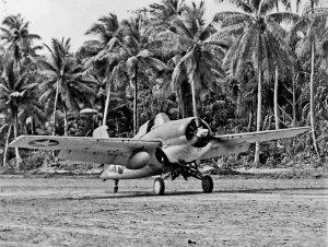 VNF-441 Wildcat on Nanumea Field, Ellice Isands in September 1943