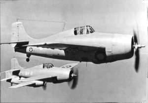 Pre-Pearl Harbor marked F4F-3 Wildcats in loose formation circa autumn 1941